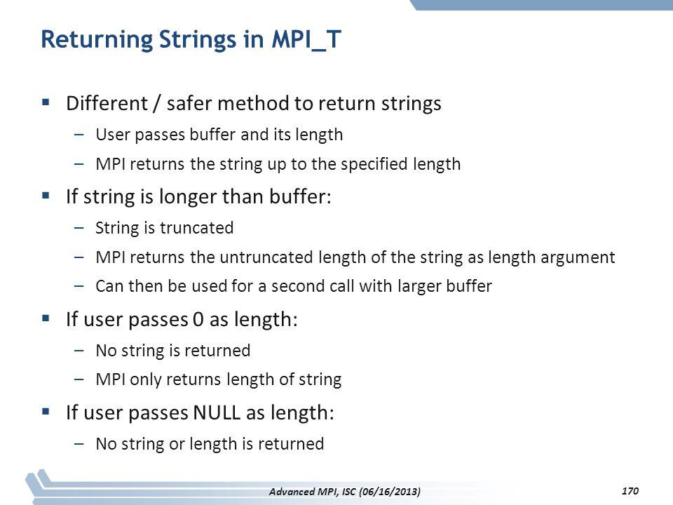 Returning Strings in MPI_T