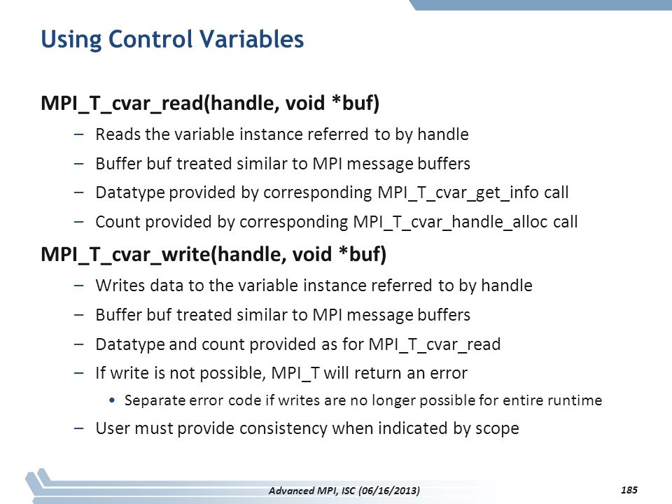 Using Control Variables