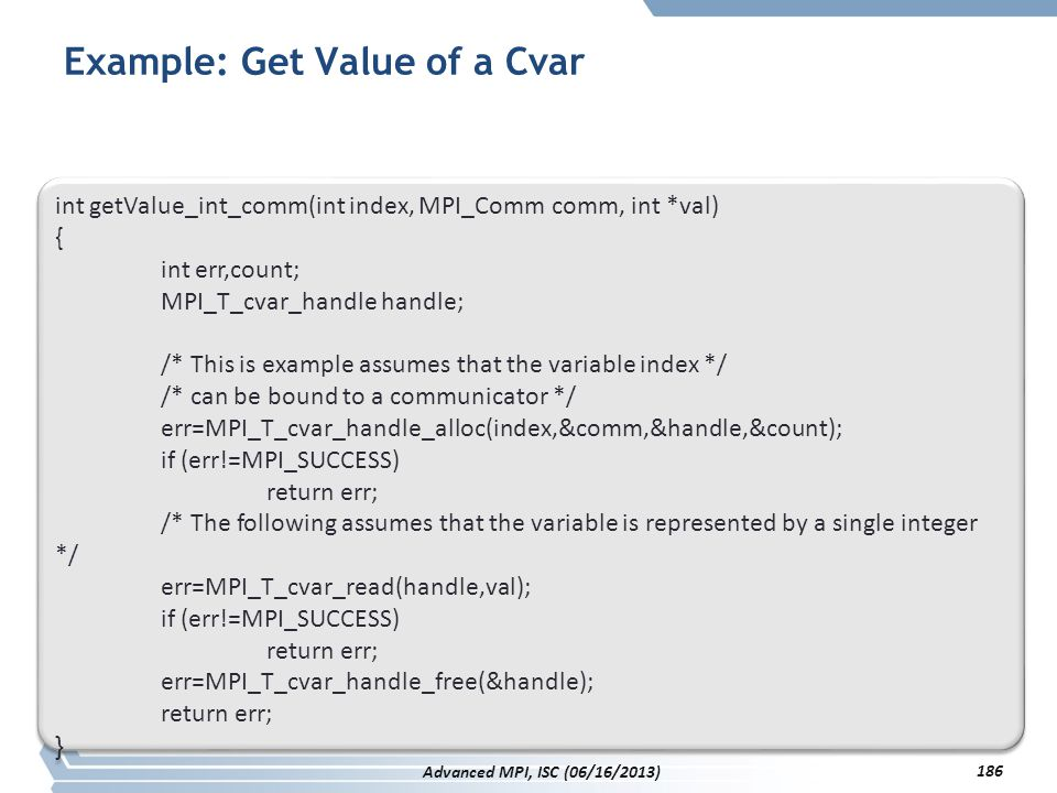 Example: Get Value of a Cvar