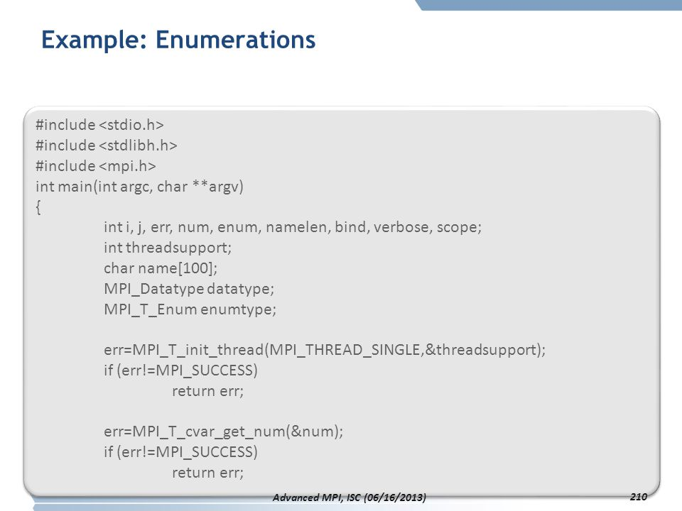 Example: Enumerations