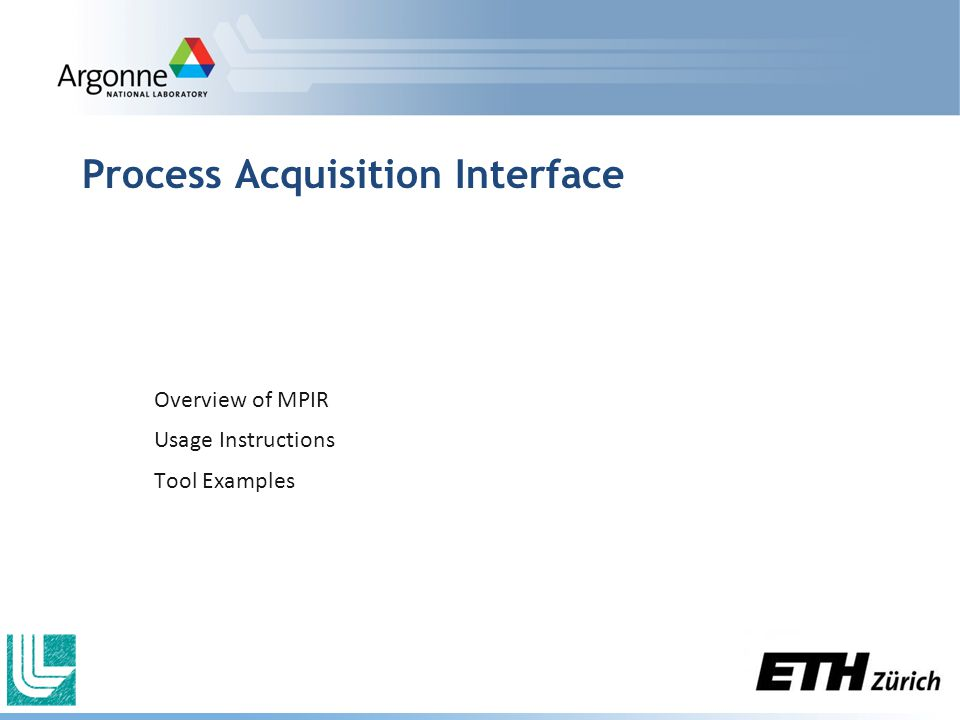 Process Acquisition Interface