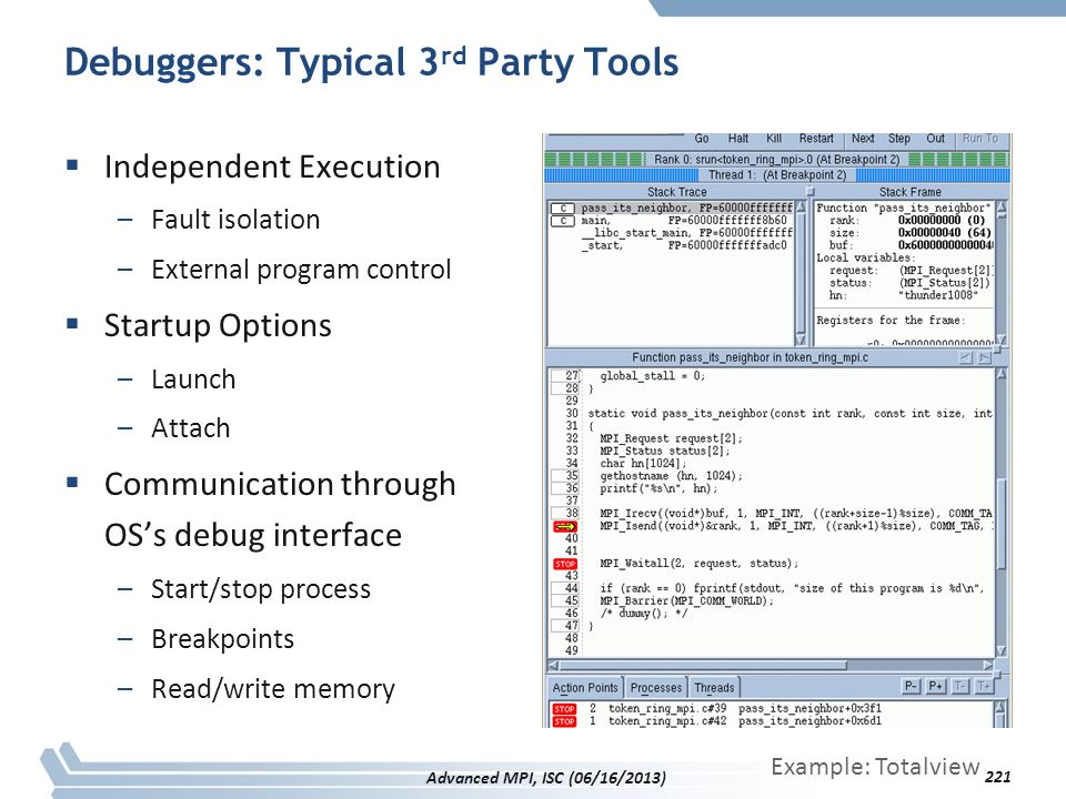 Debuggers: Typical 3rd Party Tools