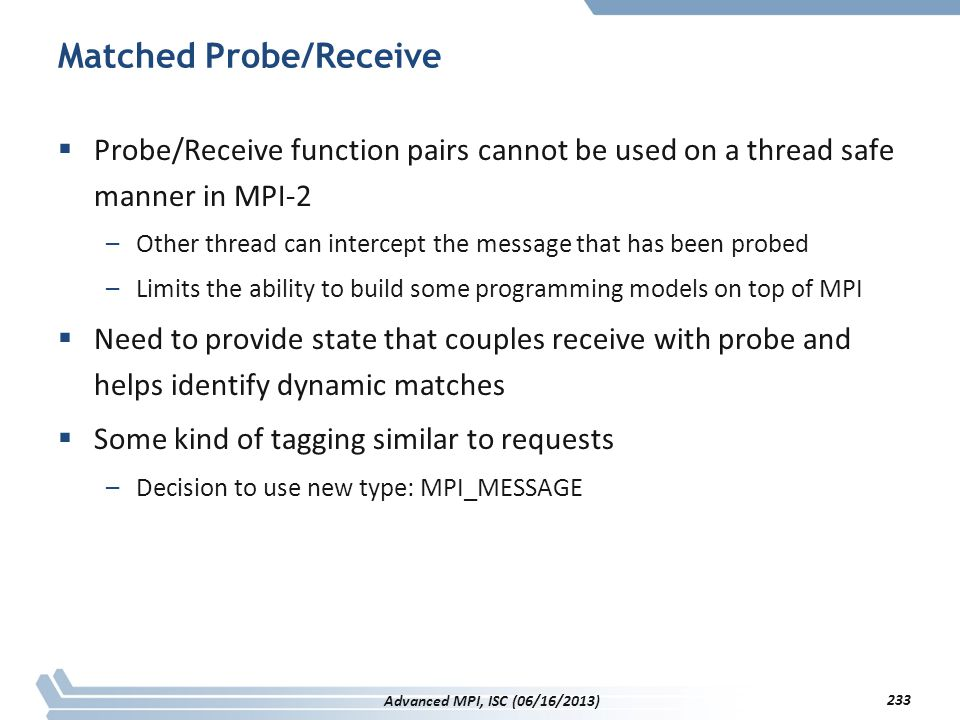 Matched Probe/Receive