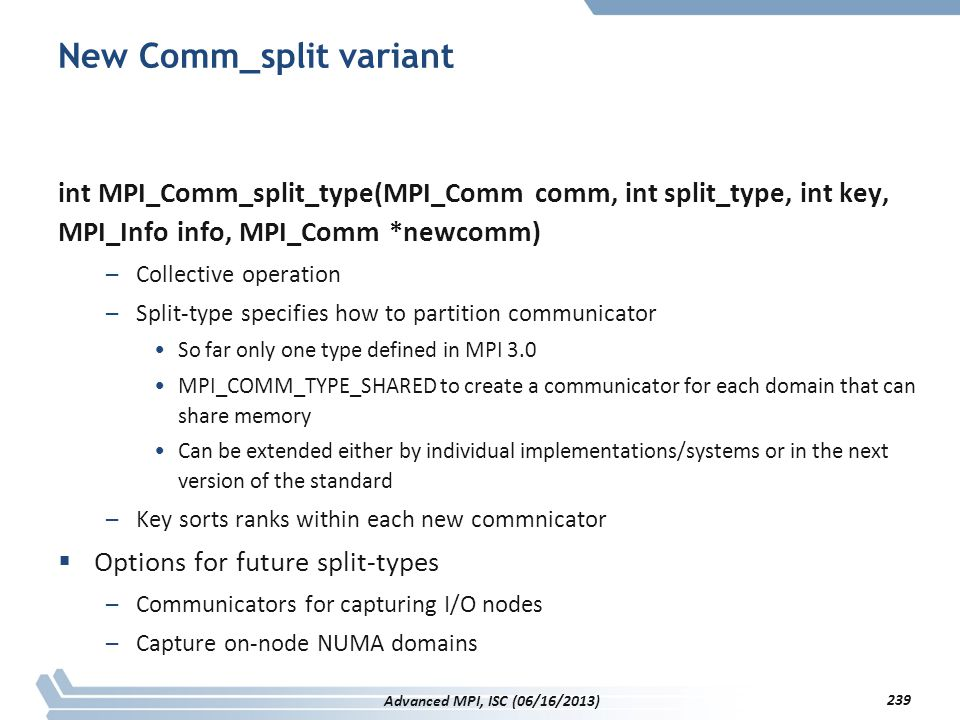 New Comm_split variant