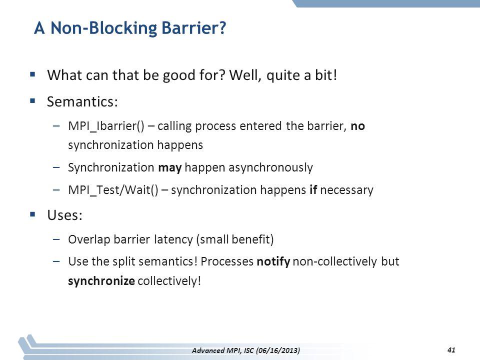 A Non-Blocking Barrier