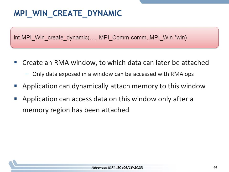 MPI_WIN_CREATE_DYNAMIC