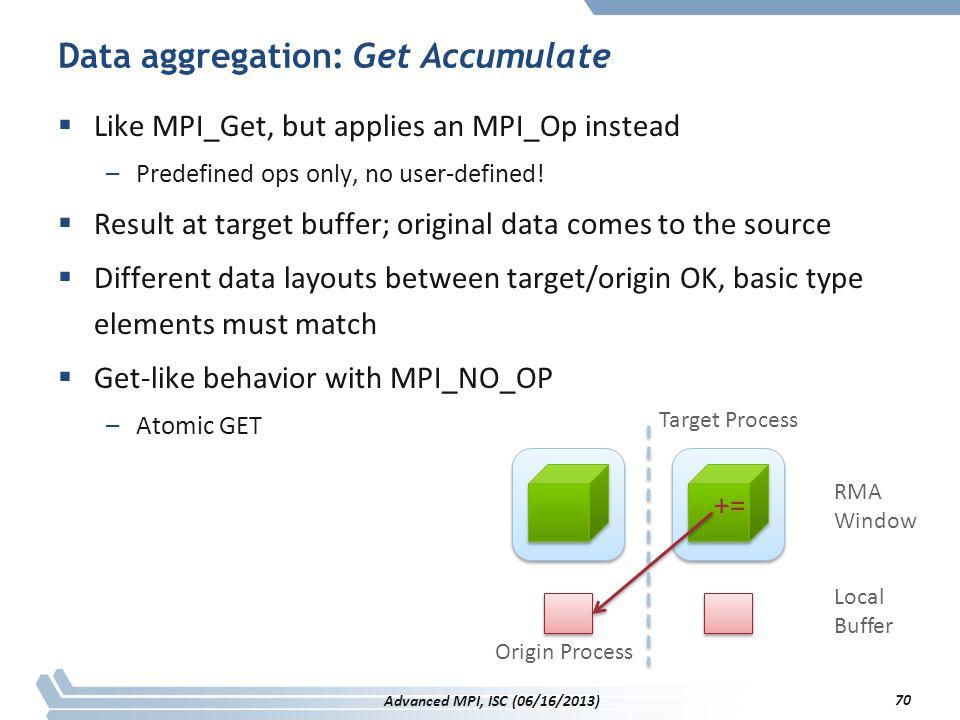 Data aggregation: Get Accumulate