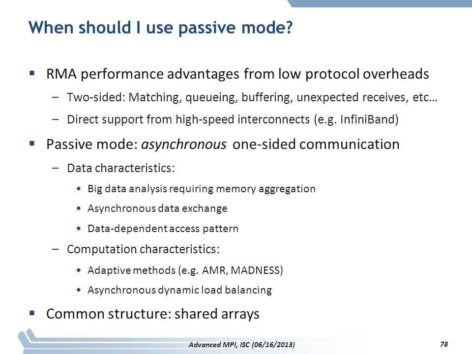 When should I use passive mode
