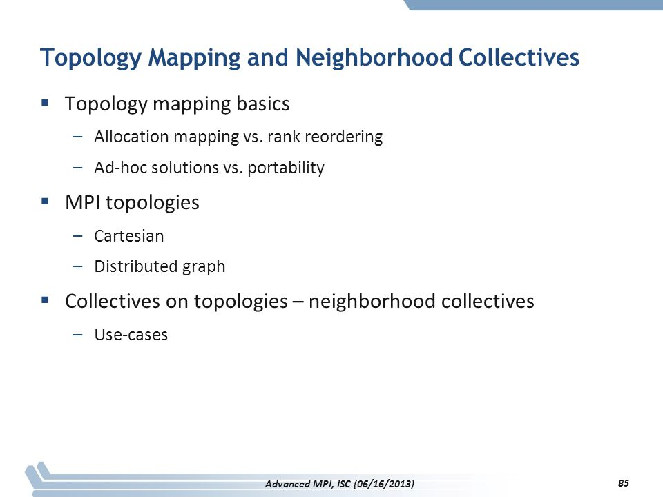 Topology Mapping and Neighborhood Collectives