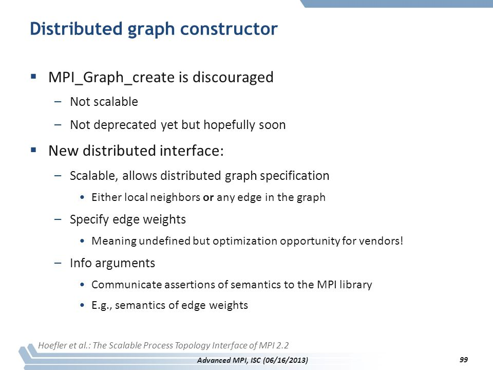 Distributed graph constructor