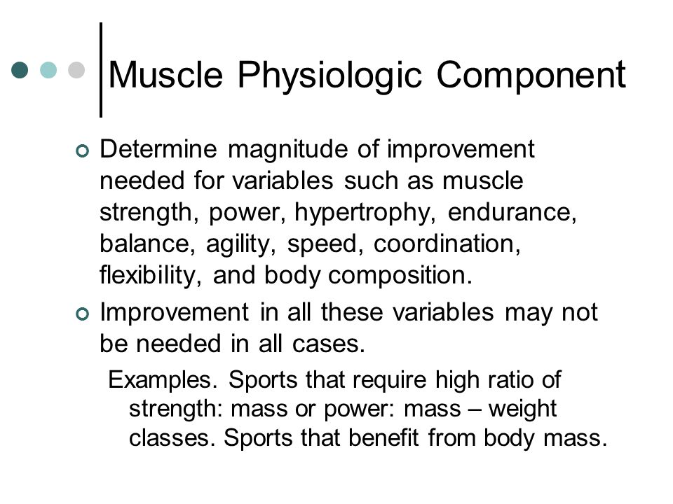 Muscle Physiologic Component