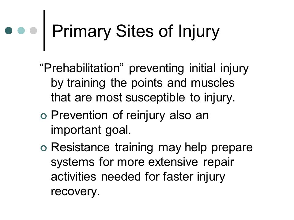 Primary Sites of Injury