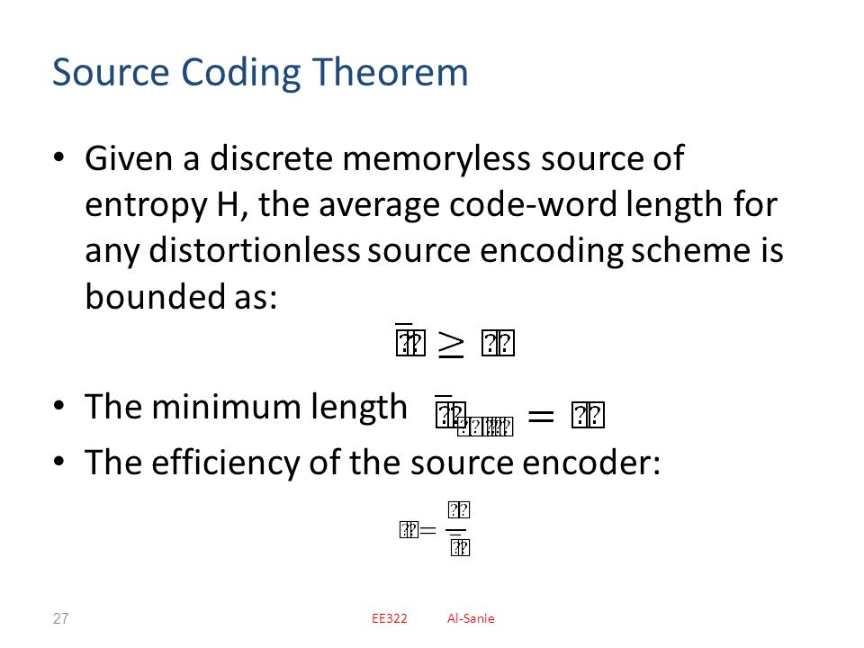 Source Coding Theorem