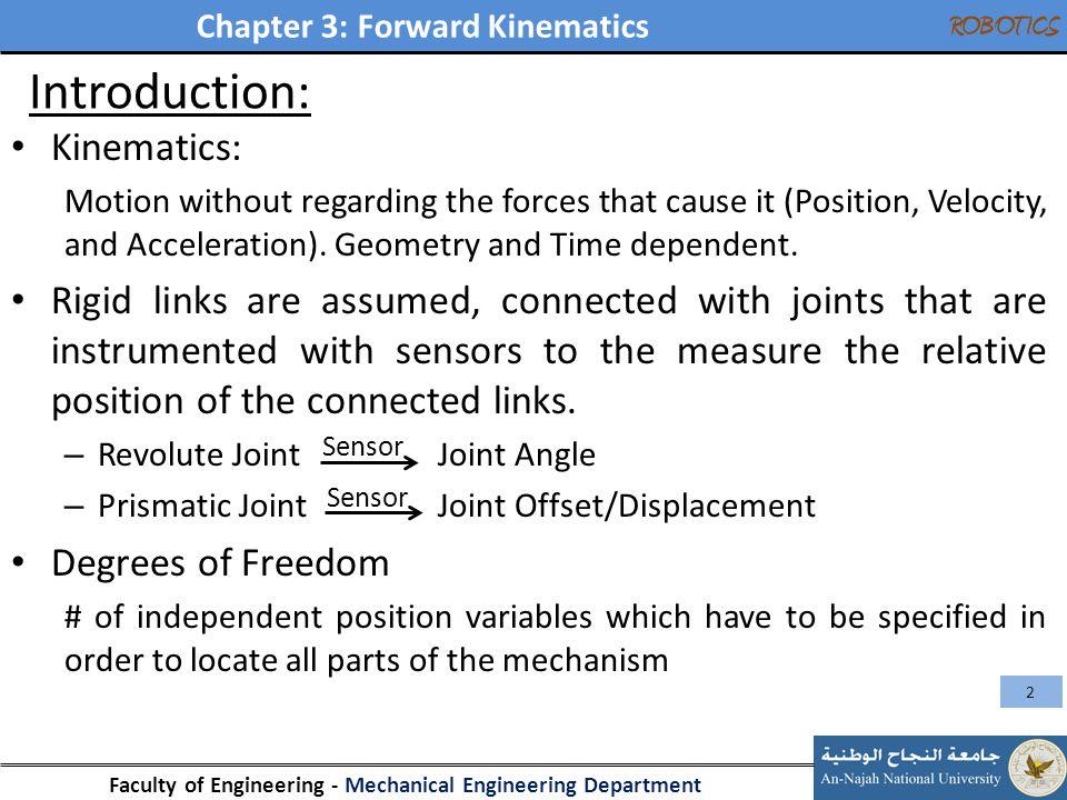 Introduction: Kinematics: