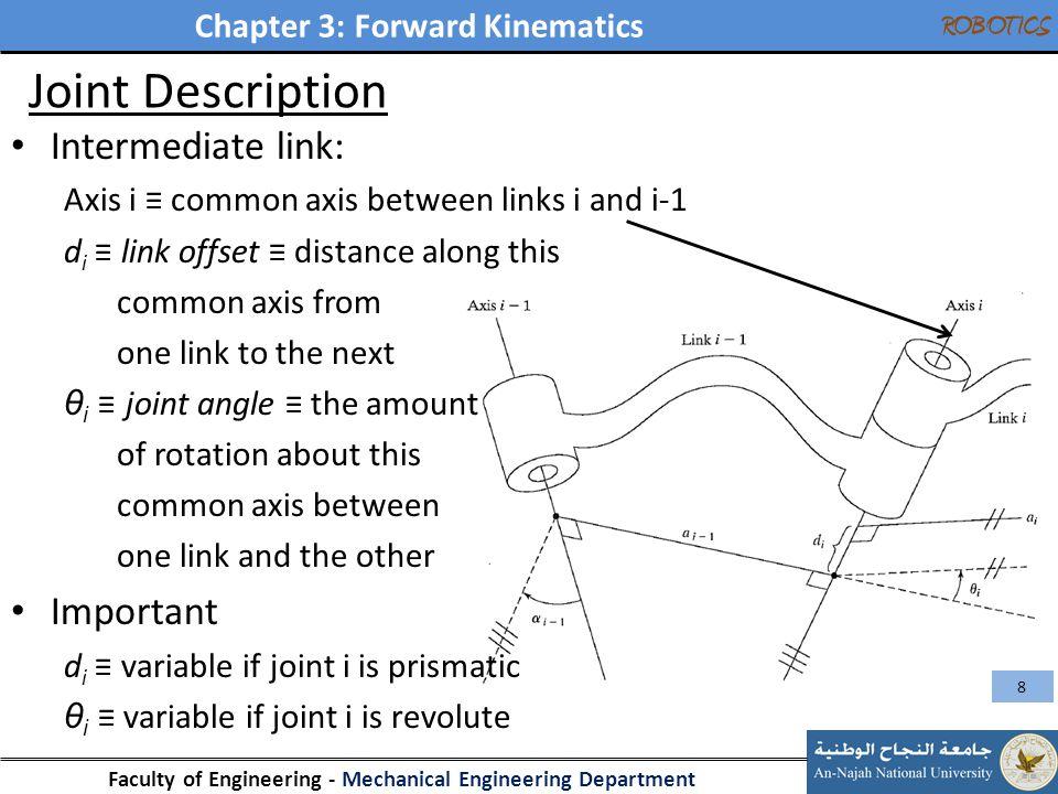 Joint Description Intermediate link: Important