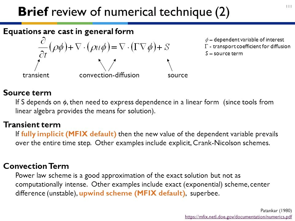 Brief review of numerical technique (2)