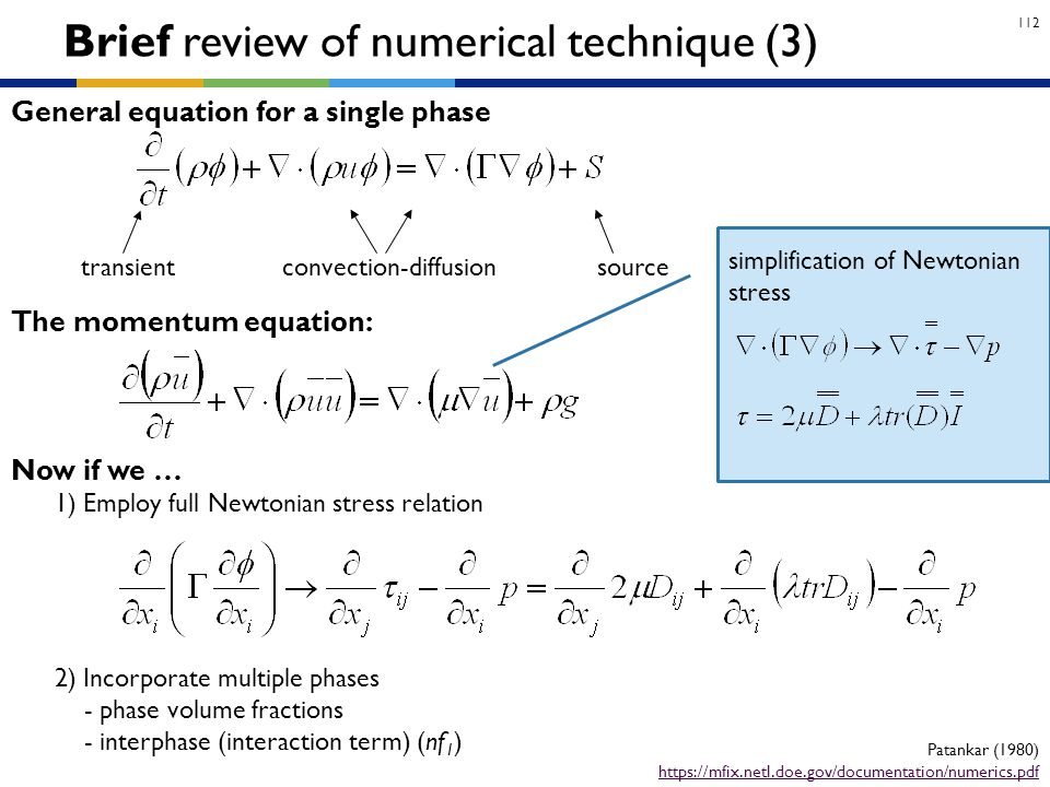 Brief review of numerical technique (3)