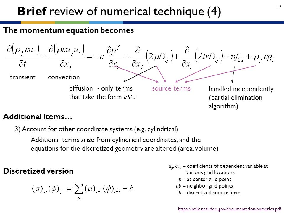 Brief review of numerical technique (4)