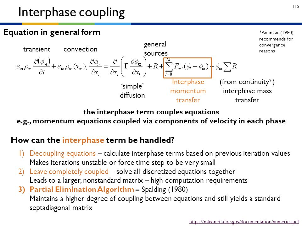 the interphase term couples equations