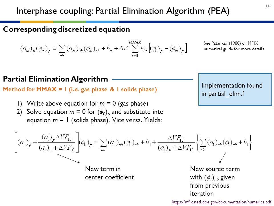 Interphase coupling: Partial Elimination Algorithm (PEA)