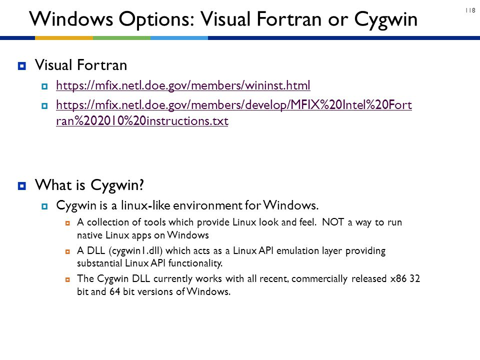 Windows Options: Visual Fortran or Cygwin