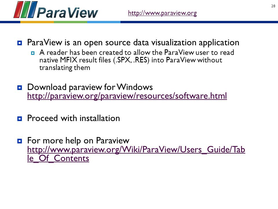 ParaView is an open source data visualization application