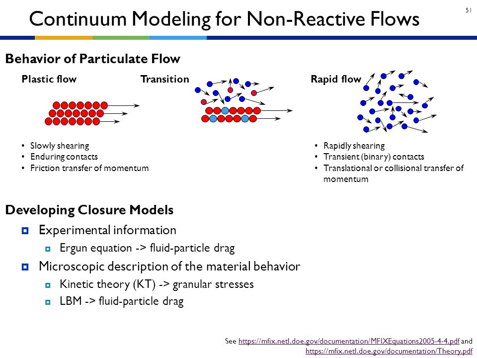 Continuum Modeling for Non-Reactive Flows