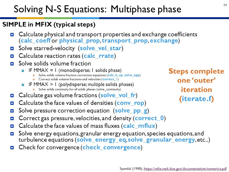 Solving N-S Equations: Multiphase phase