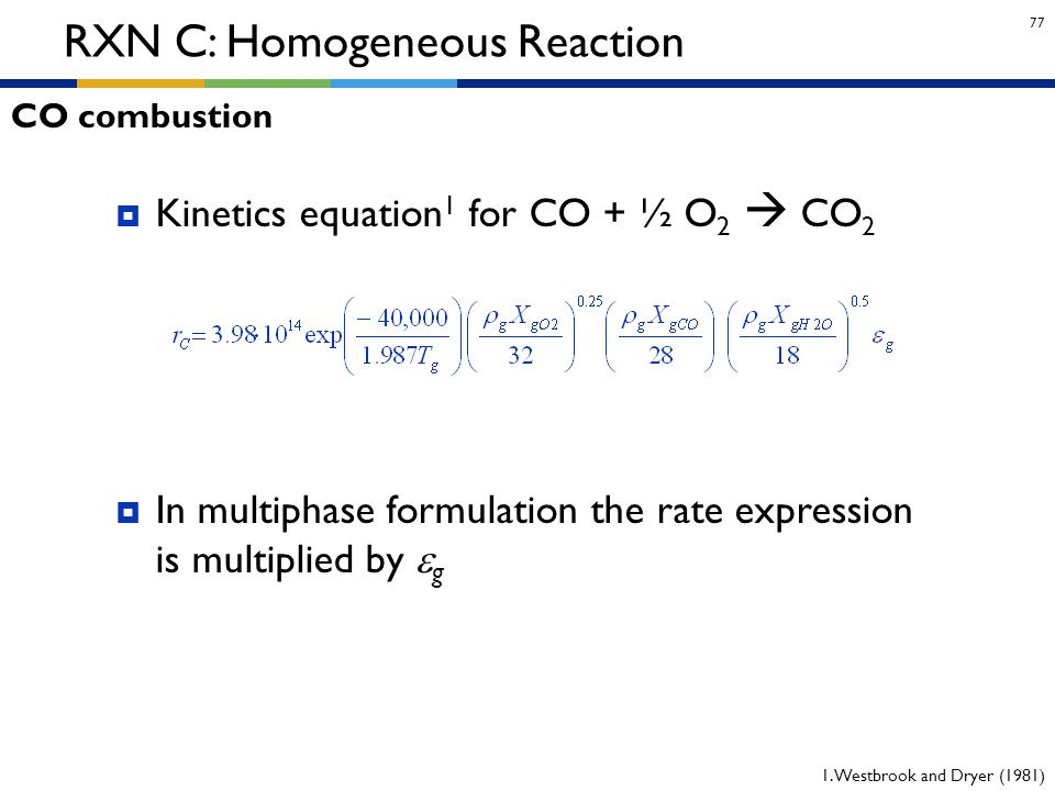 RXN C: Homogeneous Reaction