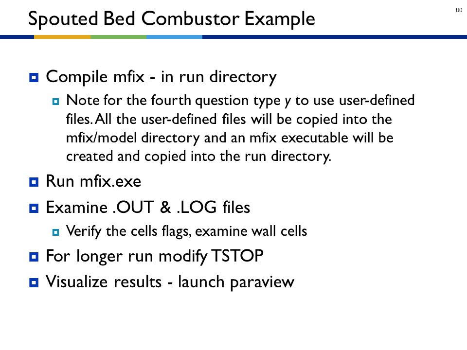 Spouted Bed Combustor Example
