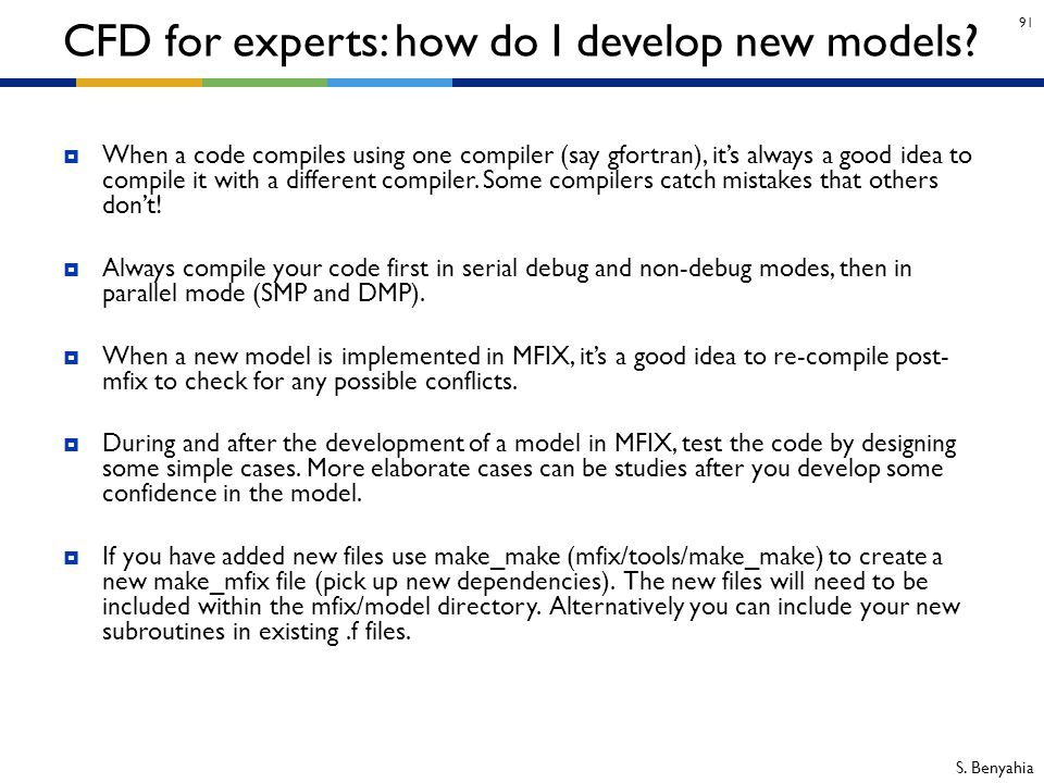 CFD for experts: how do I develop new models