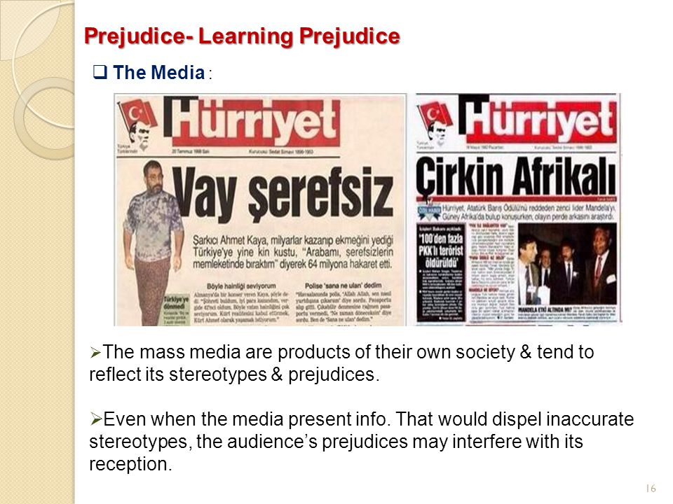 Prejudice- Learning Prejudice