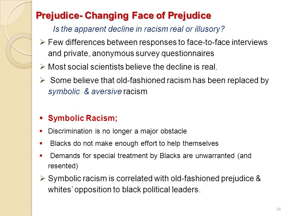 Prejudice- Changing Face of Prejudice