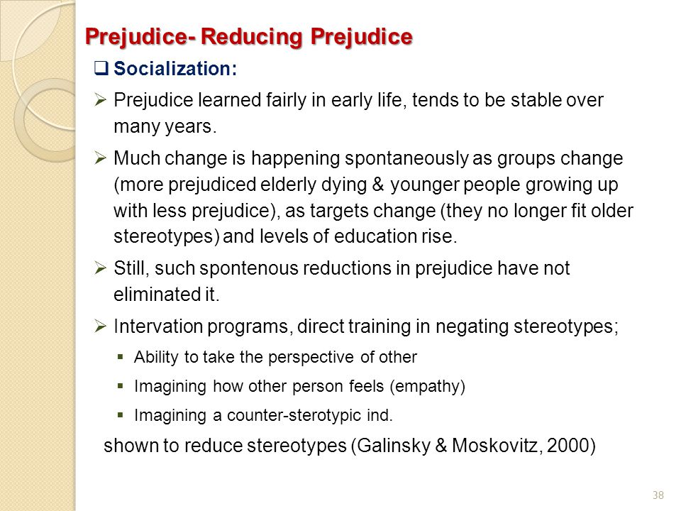 Prejudice- Reducing Prejudice