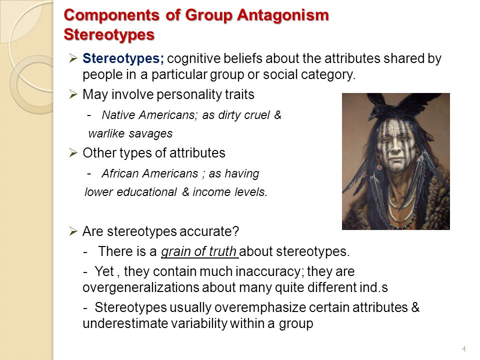 Components of Group Antagonism Stereotypes