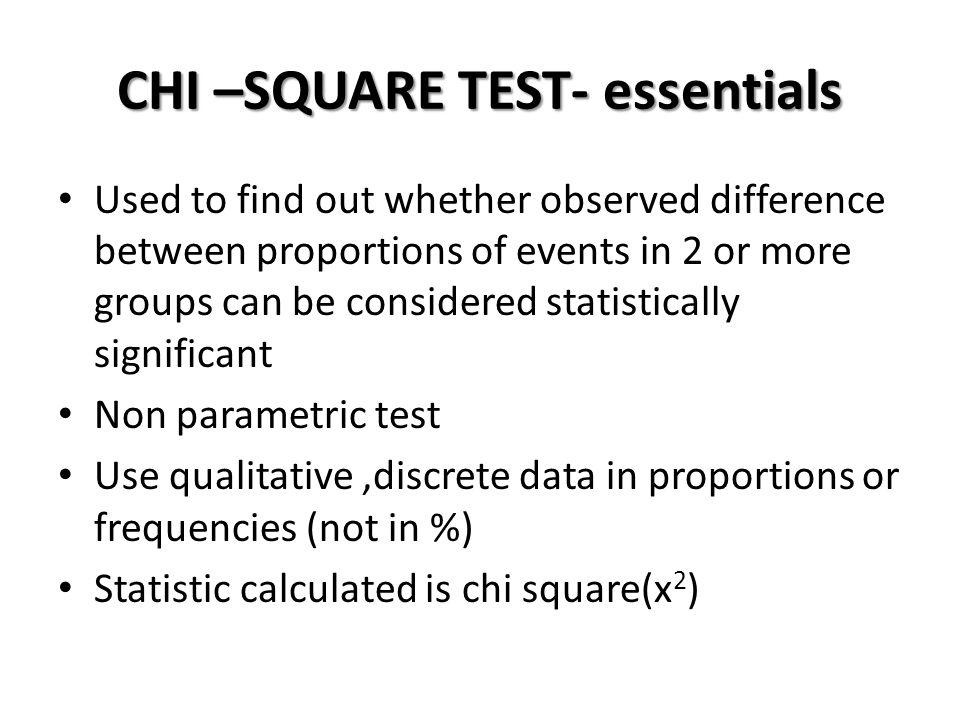 CHI –SQUARE TEST- essentials