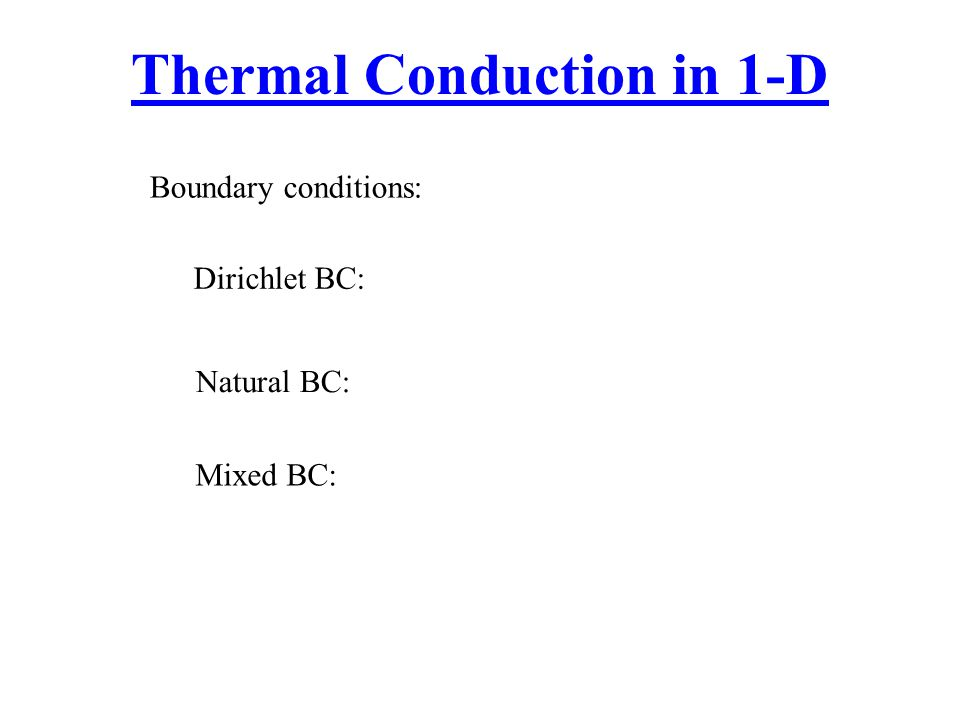 Thermal Conduction in 1-D