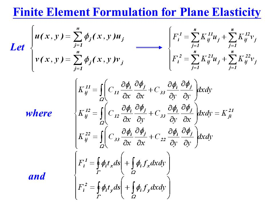 Finite Element Formulation for Plane Elasticity
