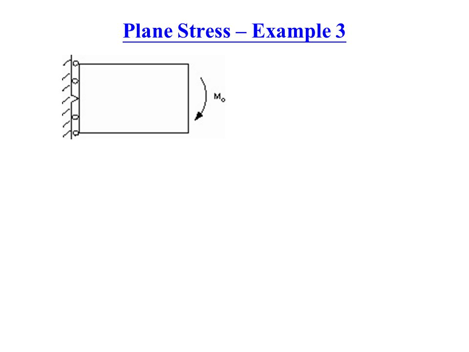 Plane Stress – Example 3
