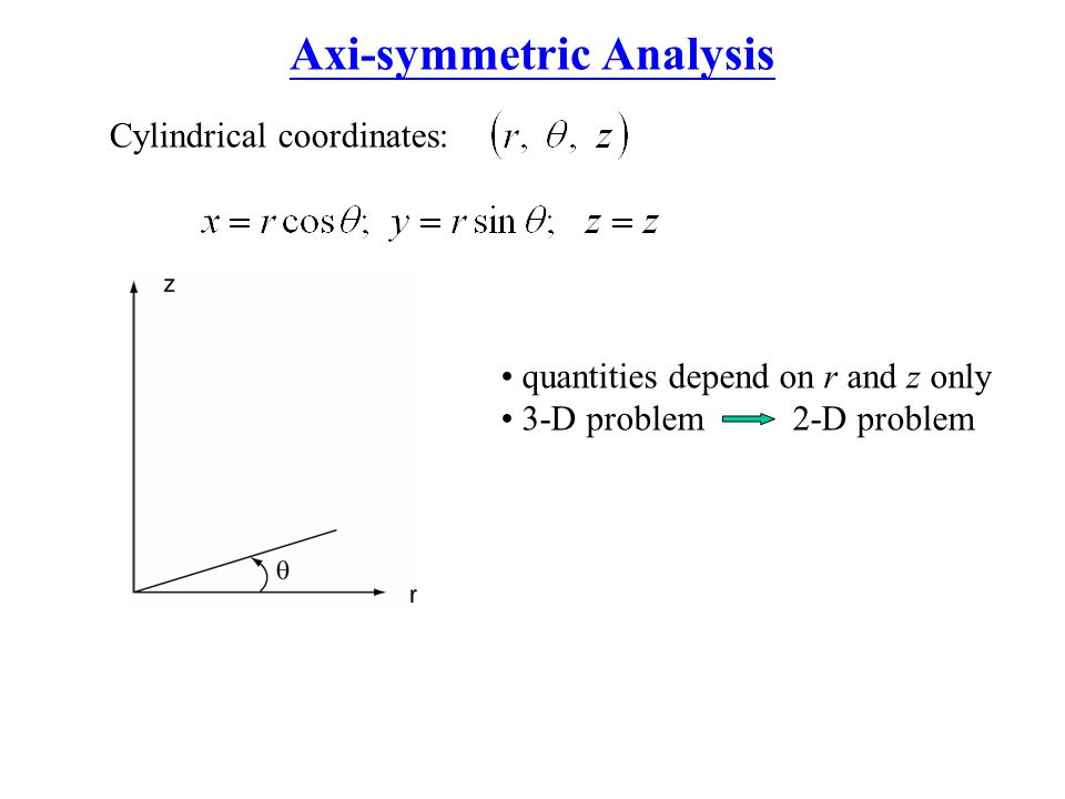 Axi-symmetric Analysis