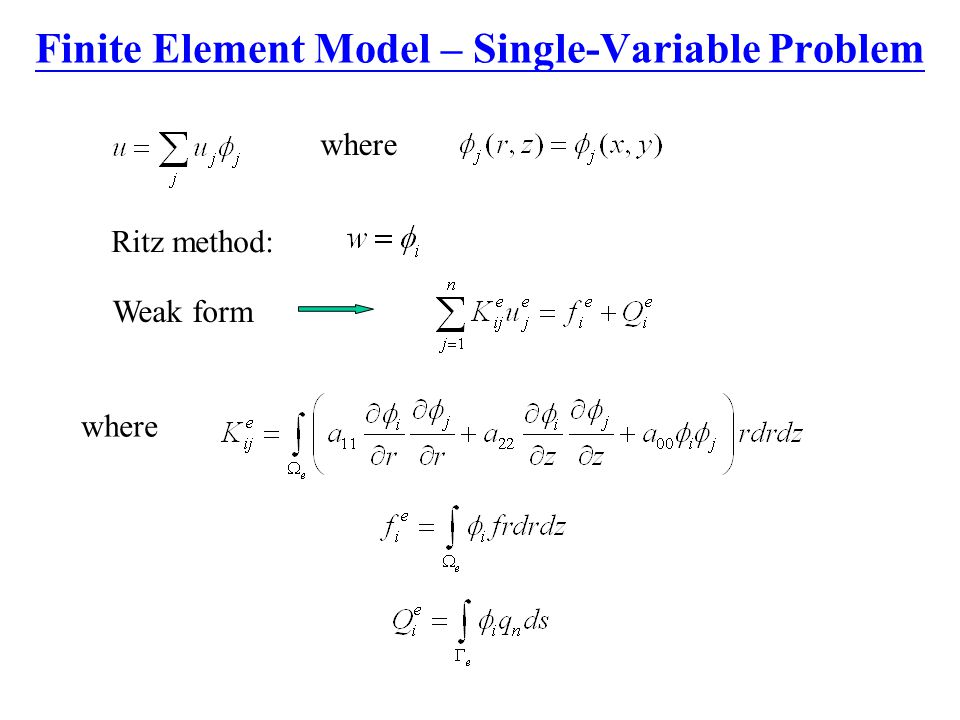 Finite Element Model – Single-Variable Problem
