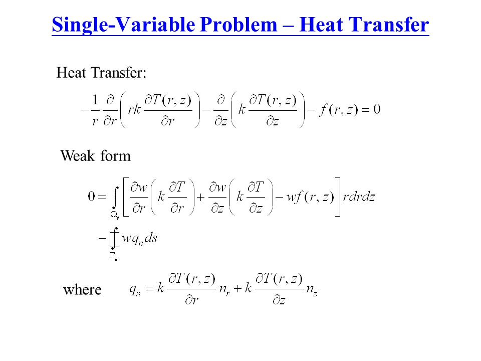 Single-Variable Problem – Heat Transfer