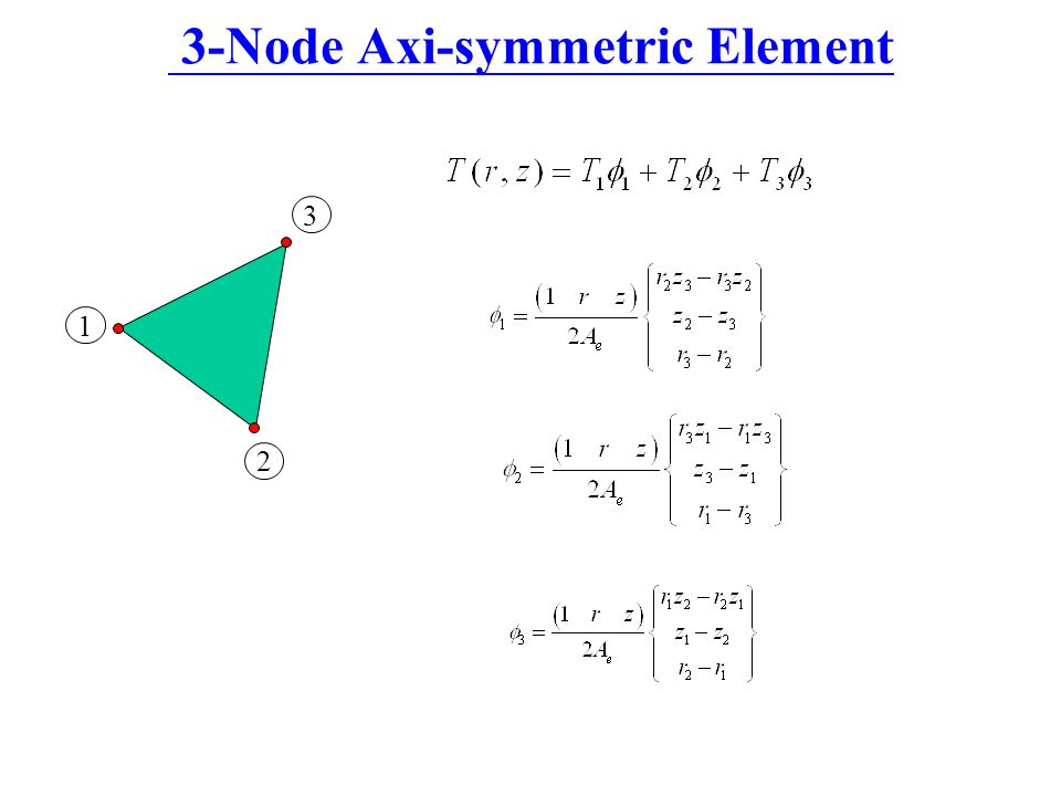3-Node Axi-symmetric Element