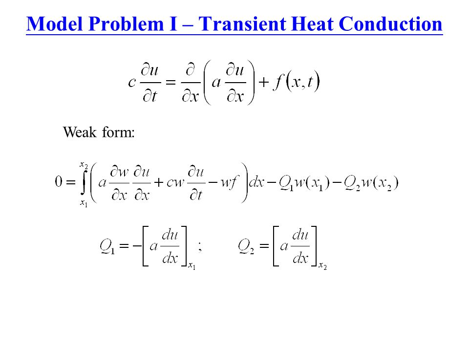 Model Problem I – Transient Heat Conduction