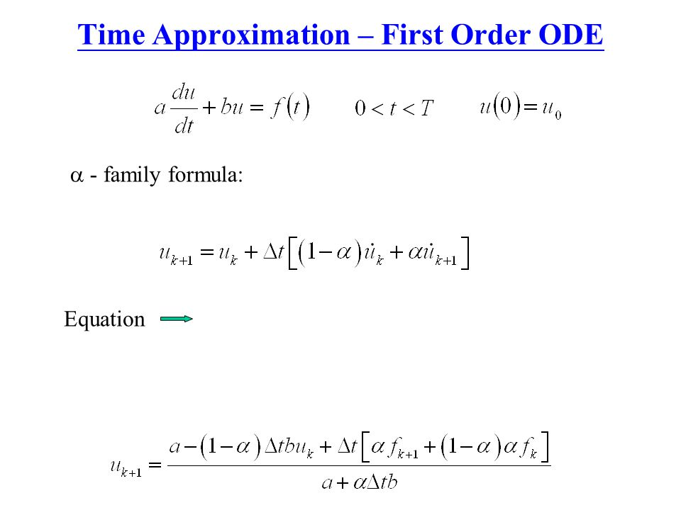 Time Approximation – First Order ODE
