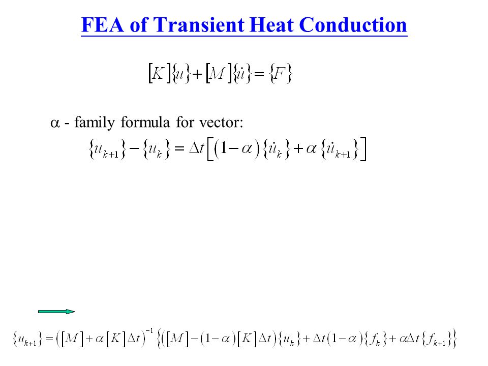 FEA of Transient Heat Conduction