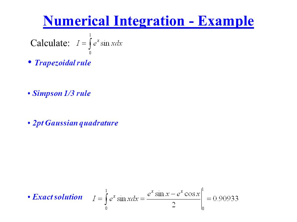 Numerical Integration - Example
