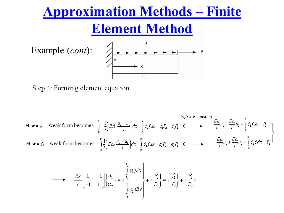Approximation Methods – Finite Element Method