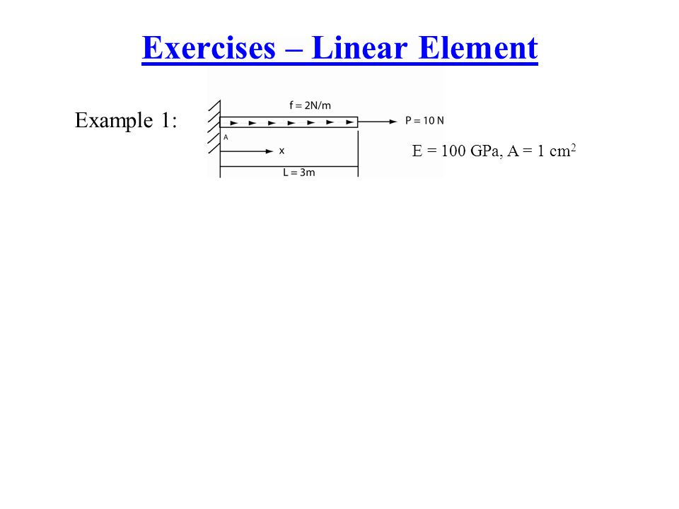Exercises – Linear Element