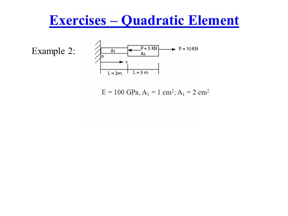 Exercises – Quadratic Element